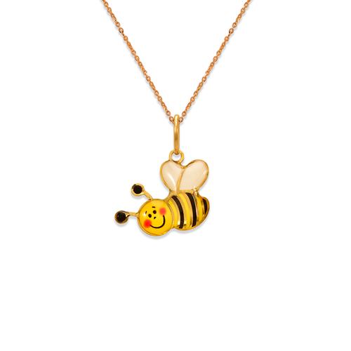 367-914 Honey Bee Enamel Pendant