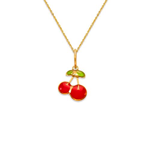 367-919 Cherries Enamel Pendant