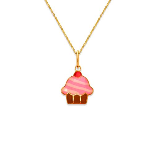 367-920 Cupcake Enamel Pendant