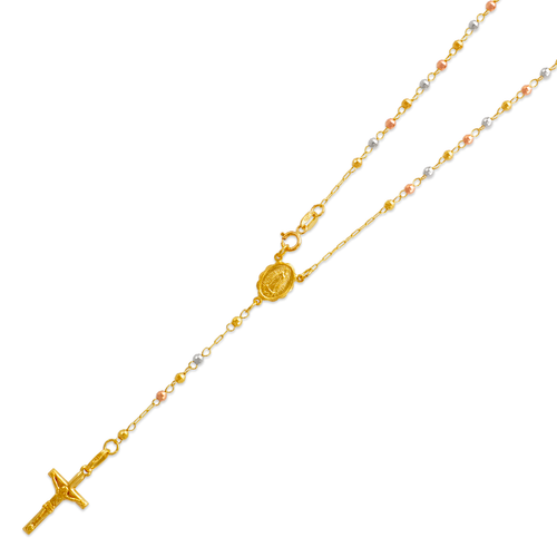 152-001T-025 Rosary Tricolor Chain