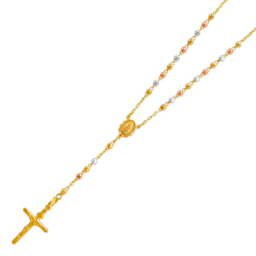 152-001T-030 Rosary Tricolor Chain