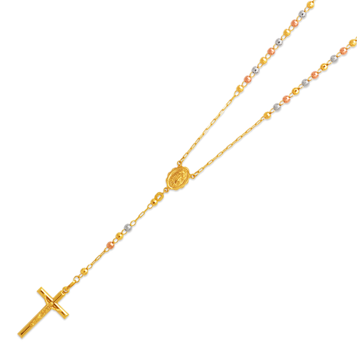 152-001T-040 Rosary Tricolor Chain
