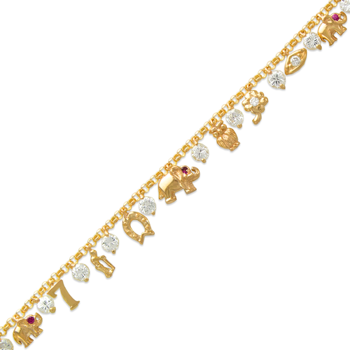 423-111 Fancy Charm CZ Bracelet