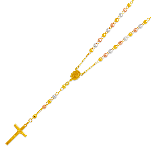 152-001T-050 Rosary Tricolor Chain