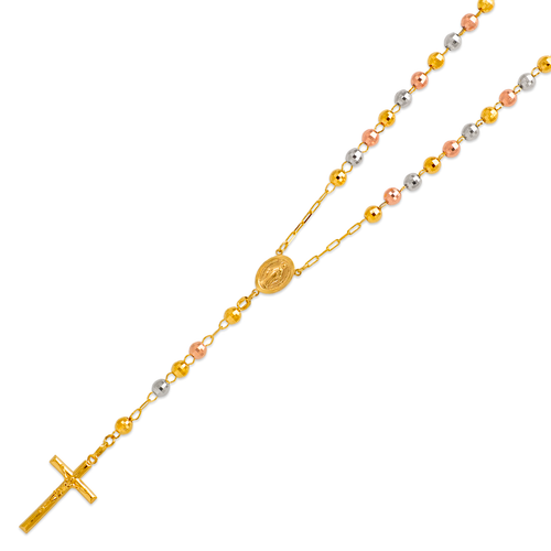 152-001T-060 Rosary Tricolor Chain