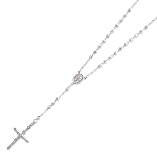152-001W-030 Rosary White Chain