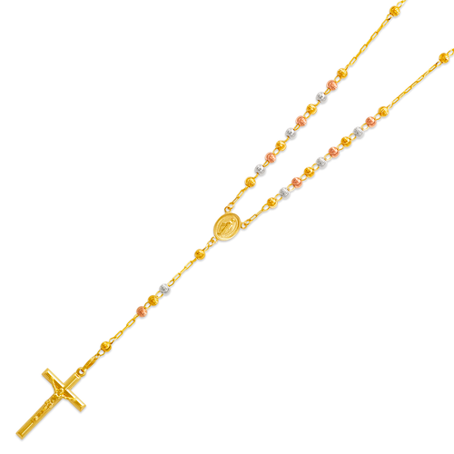 152-002T-040 Rosary Tricolor Chain