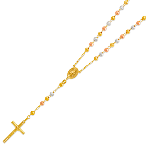 152-002T-050 Rosary Tricolor Chain