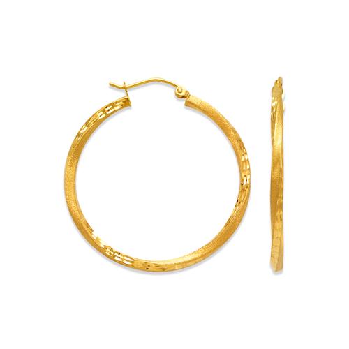 546-531S 2.5mm Square Twist Tube Hoop Earrings