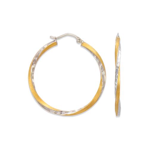 546-531ZS 2.5mm Square Twist Tube Hoop Earrings