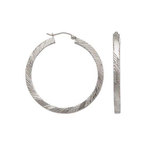 546-571WS 3mm Square Tube Hoop Earrings