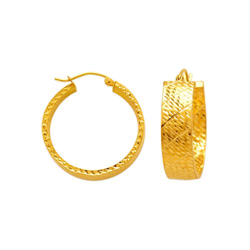546-681S 1.5x8mm Square Tube Hoop Earrings