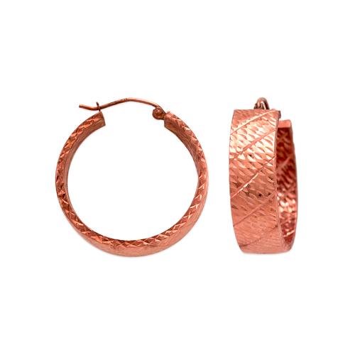 546-681RS 1.5x8mm Square Tube Hoop Earrings