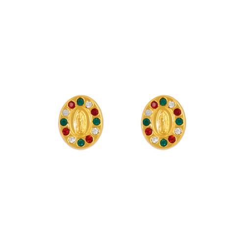 343-307MX Guadalupe Oval CZ Stud Earrings