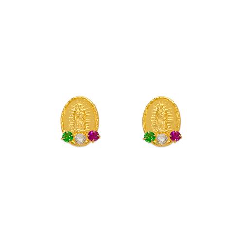 343-312MX Guadalupe CZ Stud Earrings