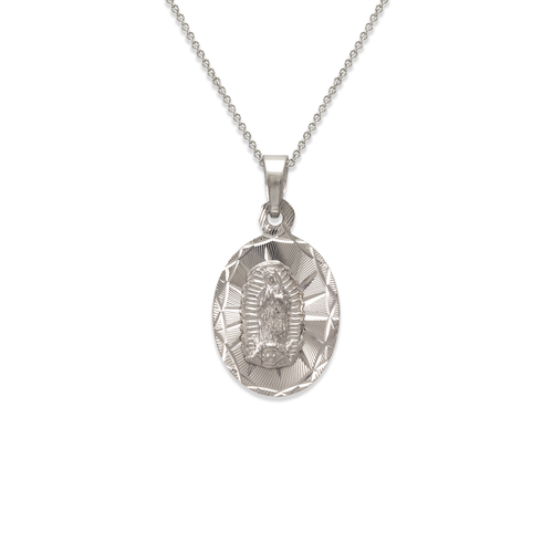 362-401W-013 Oval Guadalupe Scapular Pendant