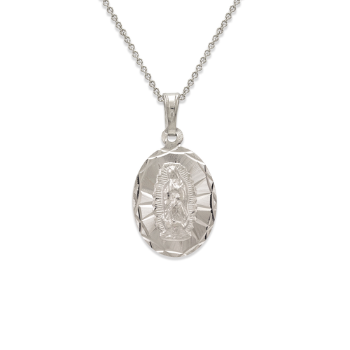 362-401W-016 Oval Guadalupe Scapular Pendant