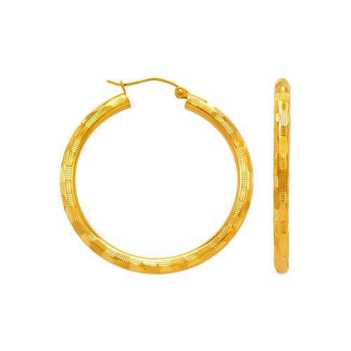 546-971S 3mm Round Tube Hoop Earrings