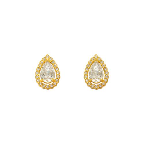 743-008 Fancy Teardrop CZ Stud Earrings
