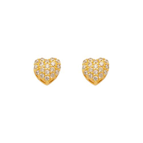 743-015 Fancy Heart CZ Stud Earrings