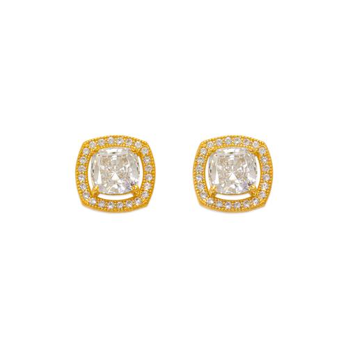 743-031 Fancy Cushion Cut CZ Stud Earrings