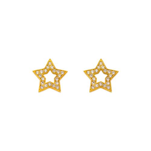 743-034 Fancy Star CZ Stud Earrings