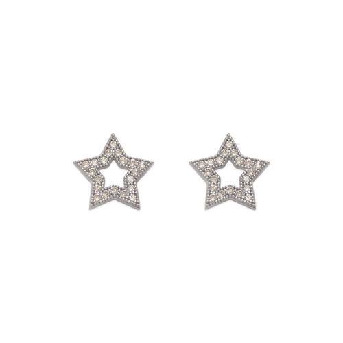 743-034W Fancy Star CZ Stud Earrings