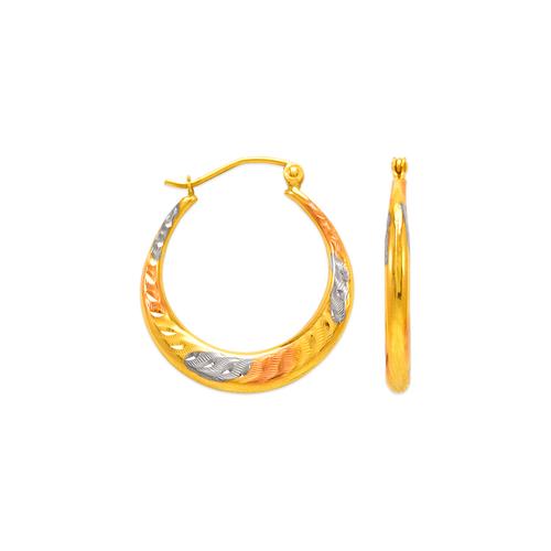 547-301T Hollow Shrimp Hoop Earrings