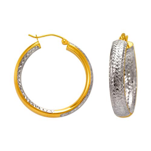 546-692Z 6mm Oval Tube Hoop Earrings