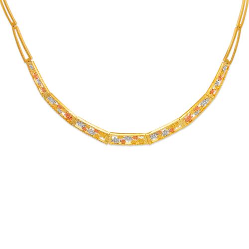 522-154T Faceted Diamond Cut Necklace
