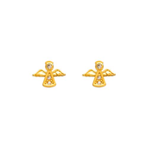 343-139 Angel Pave CZ Stud Earrings