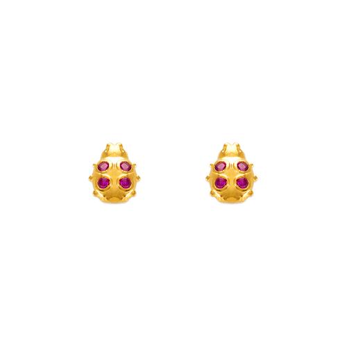 343-229 Ladybug CZ Stud Earrings