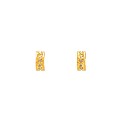 343-261 Mini Huggies CZ Stud Earrings