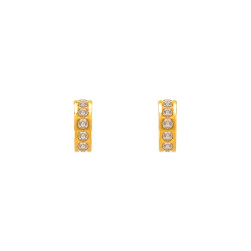 343-262 Huggies CZ Stud Earrings