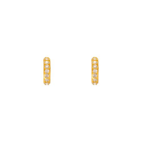 343-263 Thin Huggies CZ Stud Earrings