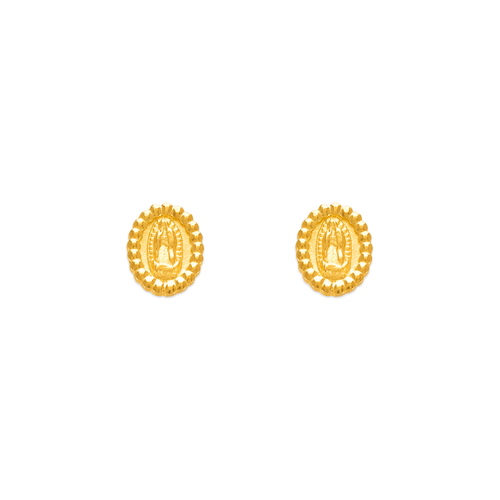 343-314 Guadalupe with Beads Stud Earrings