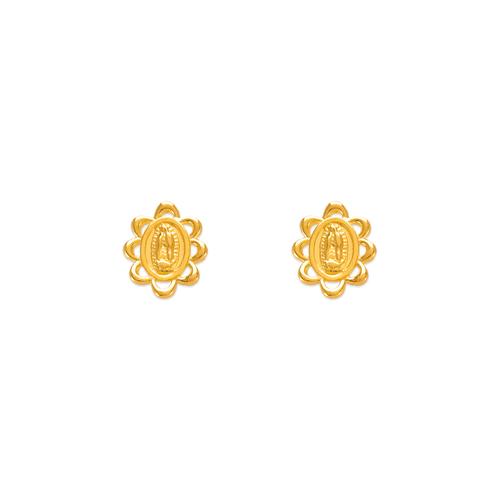 343-315 Guadalupe Flower Stud Earrings