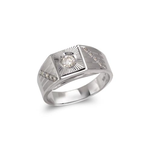 473-119W Men's White Couple CZ Ring