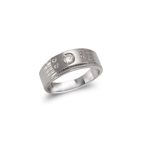 473-124W Ladies Fancy White Couple CZ Ring