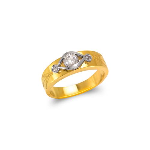 473-128 Ladies Fancy Couple CZ Ring