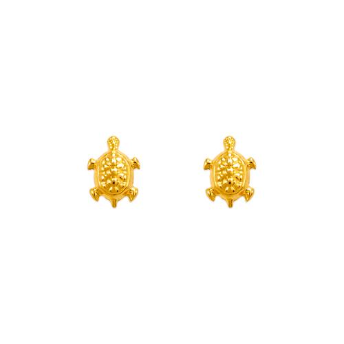 343-231 Turtle High Polished Stud Earrings