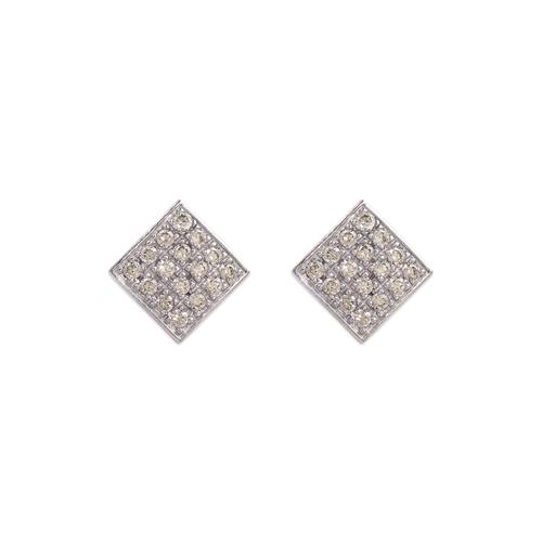 483-603W Fancy White CZ Stud Earrings