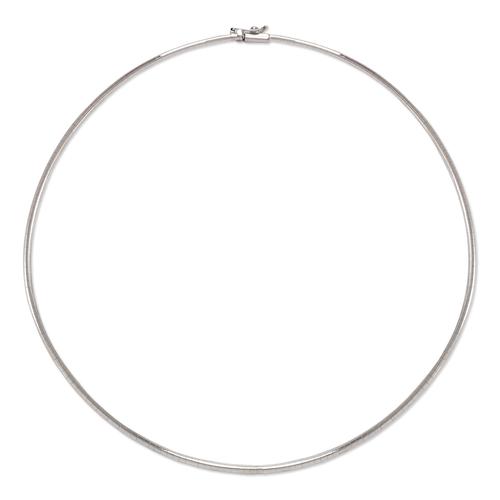 151-001W-020 2mm White Omega Chain