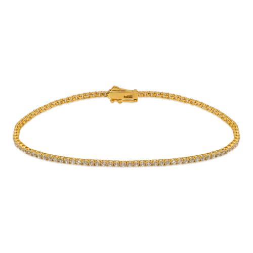 723-017 Round Pave Tennis CZ Bracelet 1.75mm