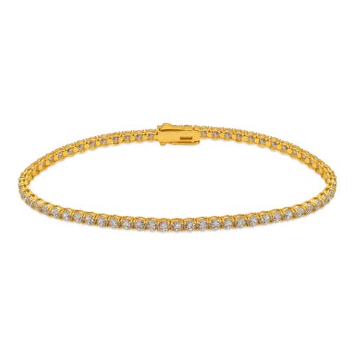 723-025 Round Pave CZ Tennis Bracelet 2.5mm