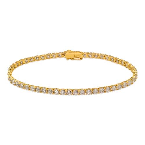 723-030 Round Pave CZ Tennis Bracelet 3mm