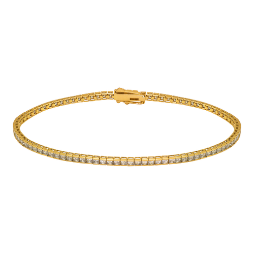 723-117 Channel Set Tennis CZ Bracelet 1.75mm