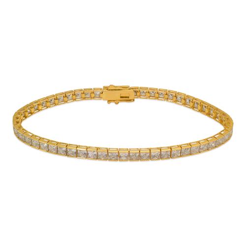 723-130 Channel Set Tennis CZ Bracelet 3mm