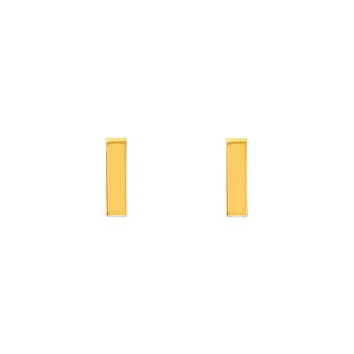 343-041 High Polished Bar Stud Earrings