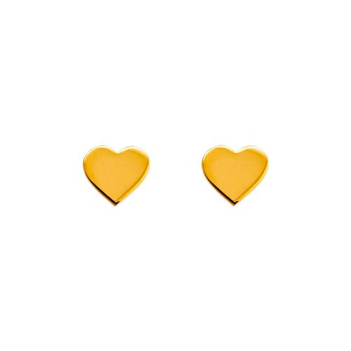 343-042 High Polished Heart Stud Earrings